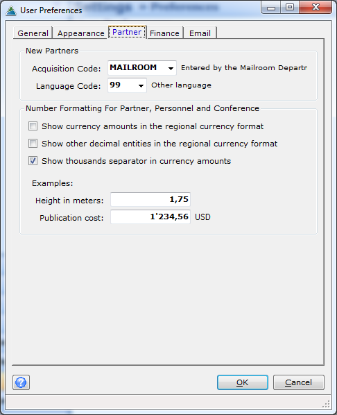 Decimal And Currency Formats and International Settings - OpenPetra Wiki